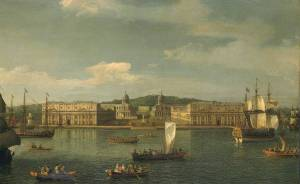 A View of Greenwich from the River circa 1750-2 by Canaletto (Giovanni Antonio Canal) 1697-1768