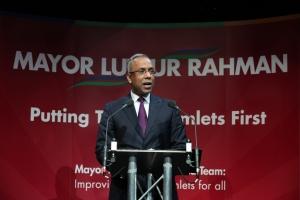 Mayor speaking