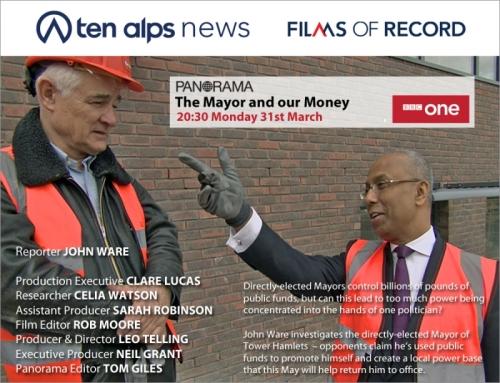 JOhn Ware, panorama, bbc, lutfur rahman, tower hamlets