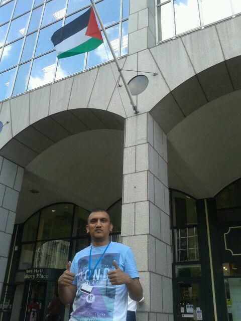 shahed ali, palestinian flag, town hall, tower hamlets